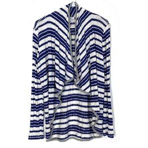 Splendid Open Front Knit Cardigan Sweater Striped